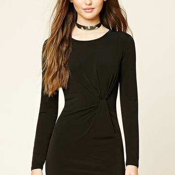 Knotted-Front Bodycon Dress