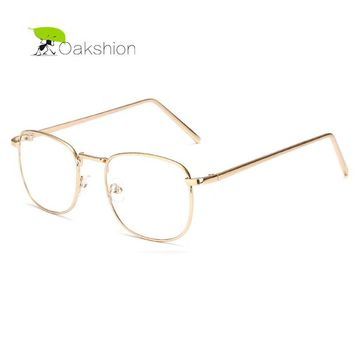 2017 Retro Gold Metal Frame Sunglasses Brand Clear Lens Glasses Square Vintage Myopia Sun Glasses for Men Business Sunglass