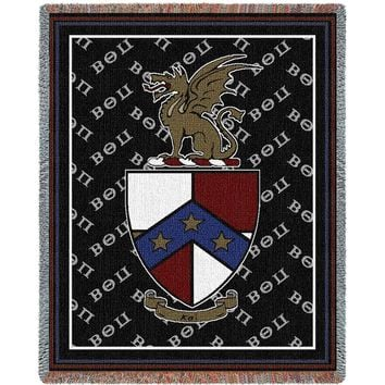 BETA THETA PI AFGHAN THROW BLANKET