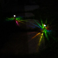 The ORIGINAL Hand-Painted Solar Powered LED Garden Stakes for Path Lighting, Patio, Playa, etc.