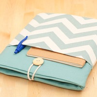 iPad case / iPad sleeve / iPad cover / padded  - chevron -