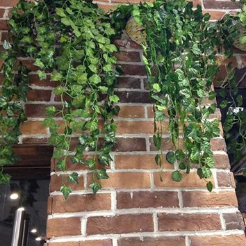 Artificial Ivy Green Leaf Vines Hangings Long Plants Garden Wall Party Decor