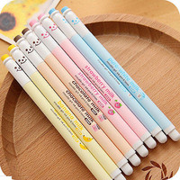 Kawaii Cartoon Happy Smile 0.5mm Erasable RollerBall Pen/Gel Pen Black Ink Sale