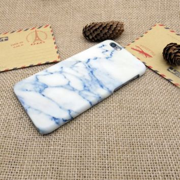 Sky Blue Marble Phone Case Cover for Apple iPhone 7 7 Plus 5S 5 SE 6 6S 6 Plus 6S Plus + Nice gift box! LJ160926-004
