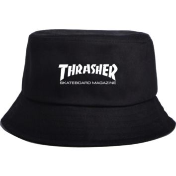Hot Trendy Summer Thrasher Print Flat Fishman Hat Fishing Cap Sport Cap