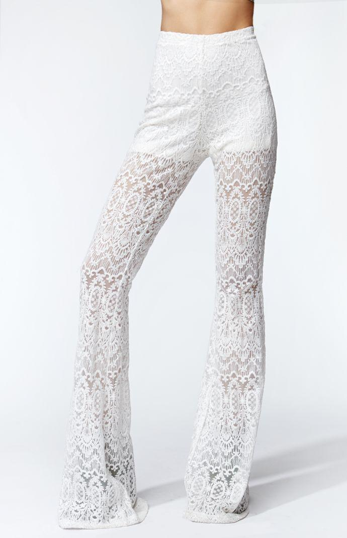 49026b85a2fddb Kendall & Kylie High Rise Lace Bell from PacSun | ❤ KENDALL &