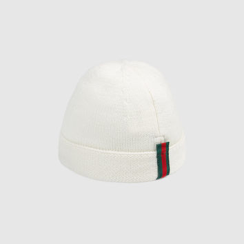 Gucci Children's knit hat with Web