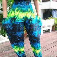 High Waist Yoga Pants Harem Boho Printed Beach Hippie Massage Rayon pants Gypsy Thai Clothing Women Tribal Plus Size Hippie Skirt Dress