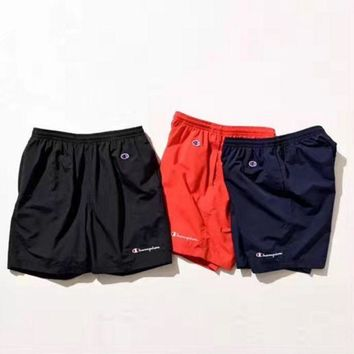 PEAPUF3 Champion Letter Printed Sports Shorts Pants