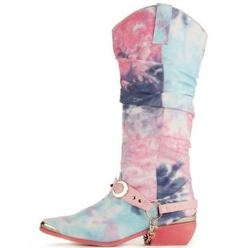 Y.r.u. For Women: Death Proof Tie Dye Cowboy Boots