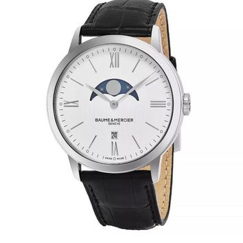 CREY3DH BAUME MERCIER CLASSIMA MOONPHASE SWISS WATCH