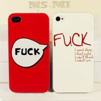 [grlhx110002]Cool Fuck Hard Cover Case For Iphone 4/4s