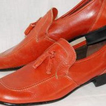 Burnt Orange Loafers by Dexter Sz 10 1/2 N by thedapperapple