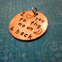Custom Hand Stamped Copper 1 inch Charm