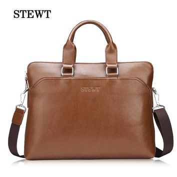 new collection man commercial male handbag casual leather shoulder bag style,men's casual design handbag brand vintage briefcase