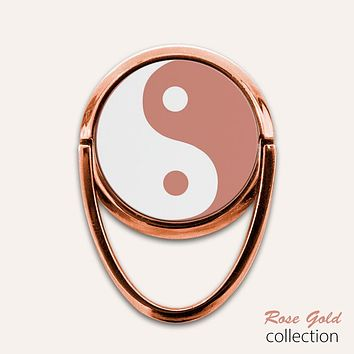 Rose Gold Yin Yang Phone Ring Finger Holder Mount Stand Grips