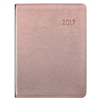 2017 Desk Diary  Metallics Leather | Rose Gold