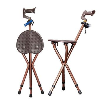 Adjustable Folding Walking Cane Chair