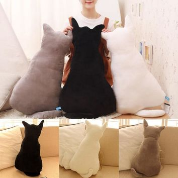 Cute Plush Back Shadow Pillow Seat Birthday Gift Little Pillows Cat Doll Plush Toy For Kids Cotton Cushion 30cm/45cm Soft