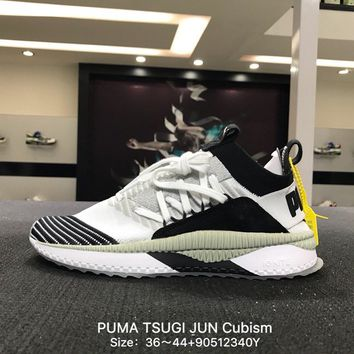 PUMA TSUGI JUN Cubism Woman Men White BLUE Fashion Sneakers Sport Shoes - 365490-01