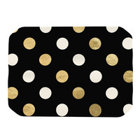 "KESS Original ""Golden Dots"" Black Gold Place Mat"
