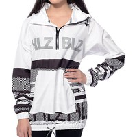 Hellz Bellz White Hologram Windbreaker Jacket