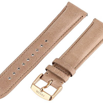 Fossil Women's S201026 20mm Leather Watch Strap - Tan