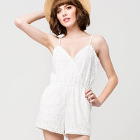 FULL TILT Lace Crochet Womens Romper | Rompers