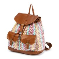 Multicolored Aztec Print Faux Leather Backpack | Claire's