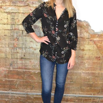 Blooming Floral Print Top