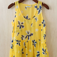 Sway The Day Away Floral Tunic, Yellow