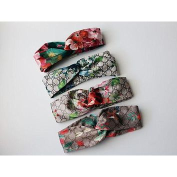 GUCCI Blooms Print Silk Headband I