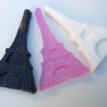 12 EIFFEL TOWER soap FAVORS - (Tags and Bags Included) - Paris Birthday Party, Soap Favors, Eiffel Tower Soap, Eiffel Tower Party