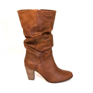 Steve Madden Lorreta - Brown Leather Knee-High Boot