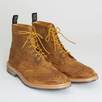 Tricker's Limited Edition Leather Brogue Boot