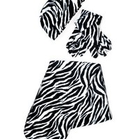 Amazon.com: Black & White Zebra Print 3 Piece Fleece Hat, Scarf & Glove Women's Winter Set: Clothing