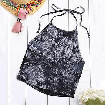 Navy Vintage Boho Printed Sleeveless