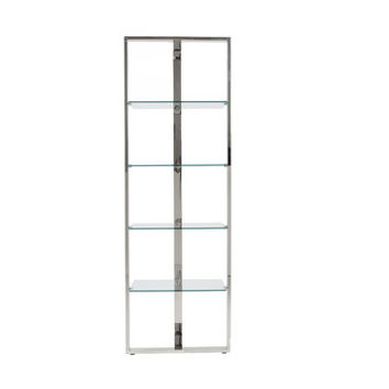 Euro Style Sienna Collection Sienna Shelving Glass Panels in Clear/Stainless Steel