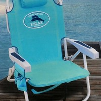Tommy Bahama Light Blue Backpack Cooler Chair