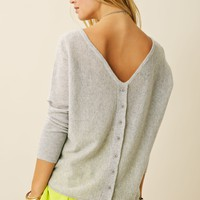 Blue Moon Reversible V Cardi Crop Crew