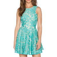 JARLO Shawe Dress in Mint