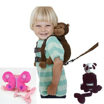 Monkey 2-in-1 Baby Kids Keeper Assistant Toddler Walking Safety Harness Backpack Bag Strap Harnesses & Leashes T30