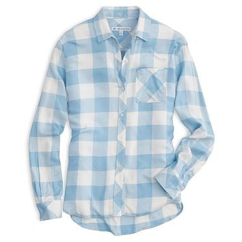 Hampton Buffalo Check Shirt in Sky Blue by Southern Tide