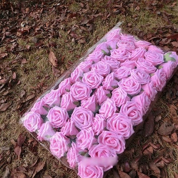 50pcs Foam Roses Artificial Flower Wedding Bride Bouquet Party Decor DIY = 1929802500