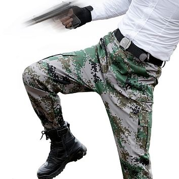 Tactical Cargo Camo Pants Special Forces Soldiers Combat Pants Mens Army Military Clothes Hombre Casual Camouflage Trousers OPS