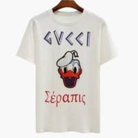 GUCCI Donald Duck print Short sleeves T-Shirt Top Tee H-A-KSFZ