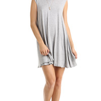 FULL SWING TANK DRESS - HEATHER GREY
