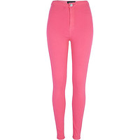 River Island Womens Bright pink tube pants