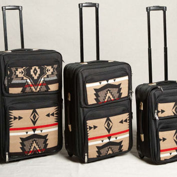 Pendleton ® Wool Fabric Luggage Black Diamond