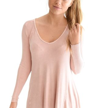 September Dusty Pink Top